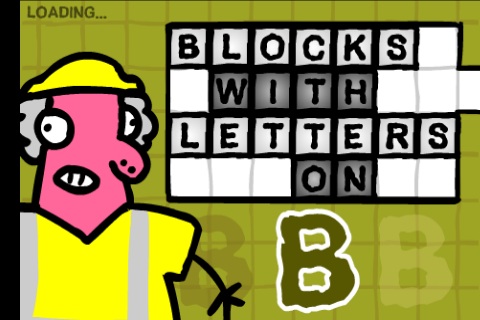 Screenshot Blocks With Letters On 'B'